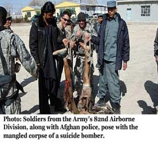 5ff2f7a2471e1 فضيحة أخرى للقوات الأمريكية في أفغانستان  صور تذكارية