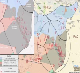 قوات أمريكية تسيطر على أحد أكبر حقول الغاز: سباق الطاقة بين واشنطن وموسكو في دير الزور