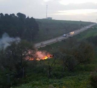 هل أُسقطت الطائرة الإسرائيلية بالدفاعات الجوية؟