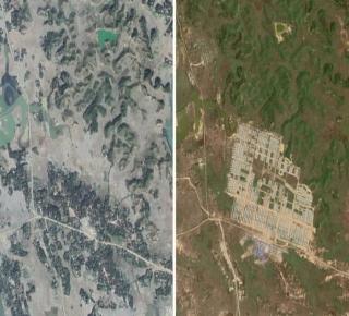 تدمير مستمر لقرى الروهينجا وبناء قواعد عسكرية فيها: صور الأقمار الصناعية تكشف حجم أزمة المسلمين في ميانمار